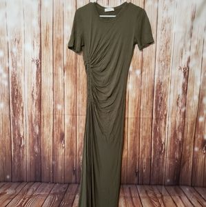 A.L.C Ruched Summer Maxi Jersey Dress XS